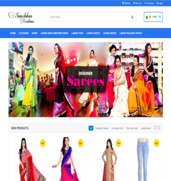 eCommerce Website Sameekshaa Creations
