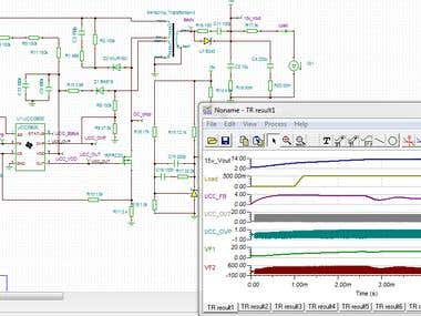SImulation of DC-DC converter