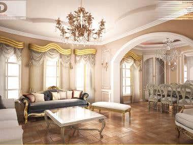 3d interior design Visualization