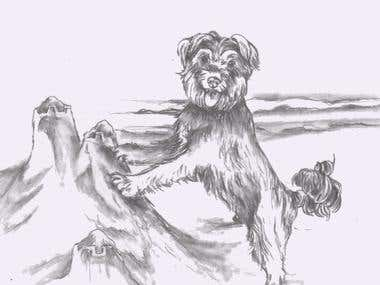 illustration of dog for contest