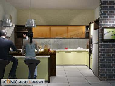 Architectural 3D Rendering (Modular Kitchens)