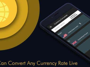 Crypto Currency Converter App Design.