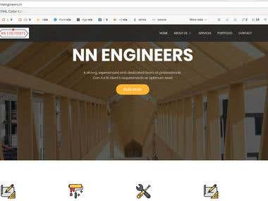 Website for NN Engineers Construction Company