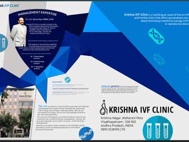 Two fold hospital brochure design and content writing