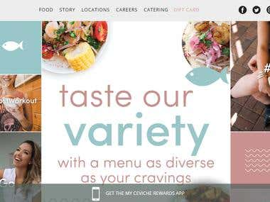 Food E-commerce Corporate Website