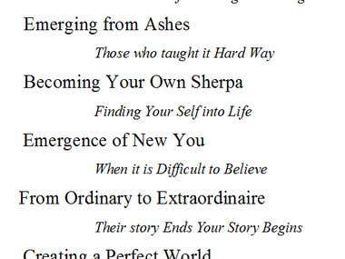 Book Titles and taglines