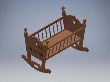 Rocking Baby Cradle