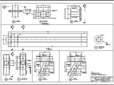 Steel Structure Sample Design, Drawings & Fabrication Dwgs