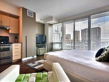 Living room Designing & Rendering