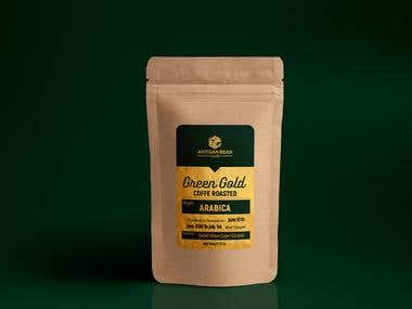 Label Coffe Bean Roasted