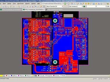PCB Current Loop Interface 4-20 mA with WiFi ESP Chip