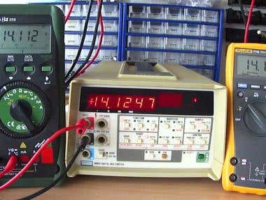Fluke 8860A Voltage ramping up measurement
