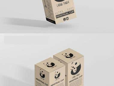 caring panda package with Brochure