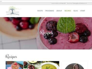 Web Design for a health & wellness coach