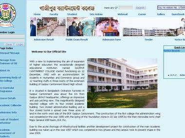 Gazipur Cantonment College. Gazipur. Bangladesh
