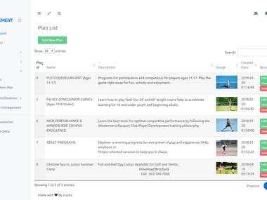 Windermere Tennis Club (Online Program Booking System)