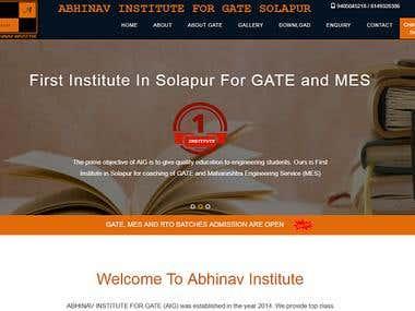 Abhinav Institute Website