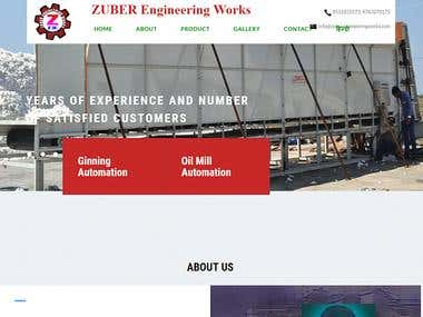 Zuber Engineering Works Website