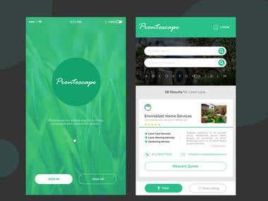 Landscape & Gardening Directory App Exploration