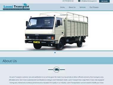 Laxmi Transport Website