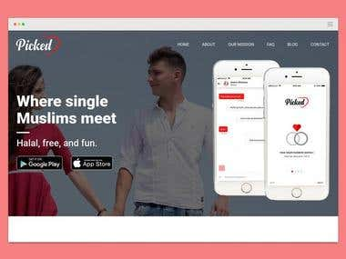 Picked Dating App Landing Page