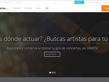 CORRECCIÓN DE BUGS EN WEB ELABORADA CON SYMFONY