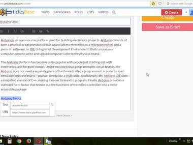 Demo Project of Blog Posting (Posting step)