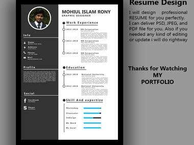 Resume Design in Photoshop