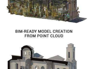 BIM-ready model from Point Cloud
