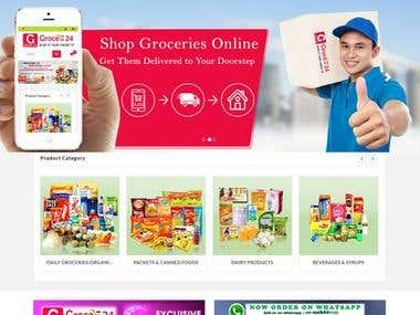 Grocery eCommerce website, Android App and iOS App