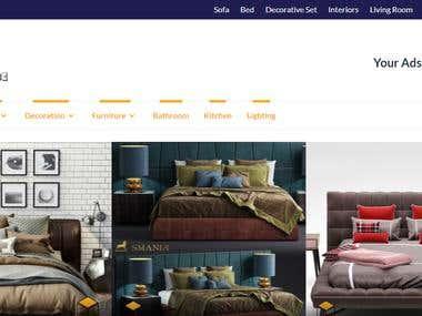 3D Interior Models Design Website Design