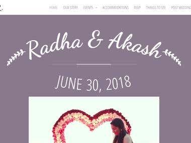 AkashRadha Wedding Website