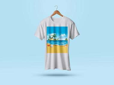 T-shirt resort