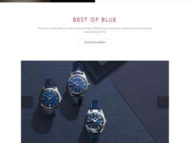 Magento website for Luxury omega watches