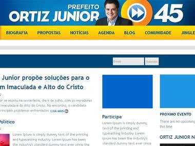 ORTIZ JUNIOR Campaign Website