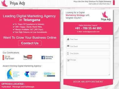 Single Page Website - Priyaads (PSD to HTML)