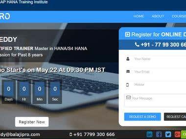 Institute Website - Balaji Pro Academy