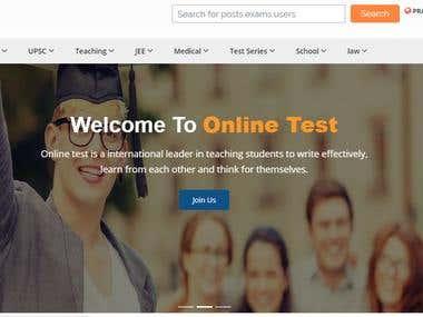 Online Exam Portal - Online Test Syatem