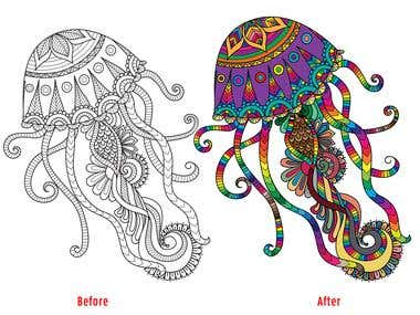 Colorizing of vector graphics