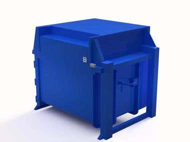 Blue Vertical Compactor