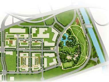 2D & 3D Site plan