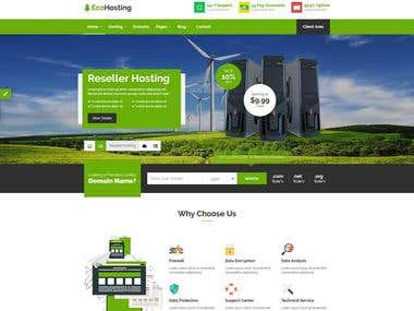 HTML-web-hosting-website-templates