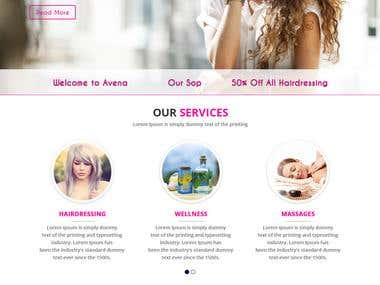 Beauty Design WordPress Site