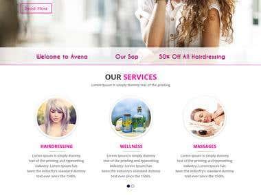 Beauty Design WordPress Site