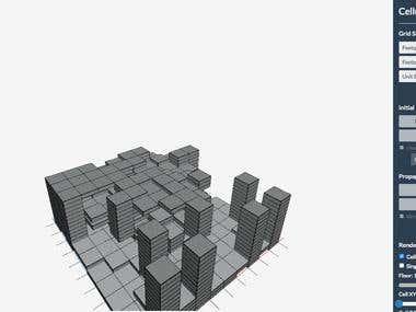Cellular Automata Simulator for Generative Architecture