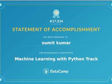 Machine Learning with Python Track