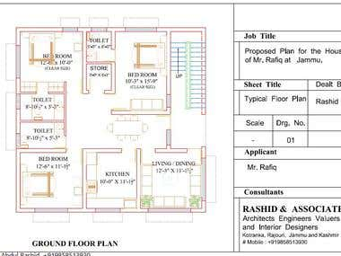 Proposed Plan for the House of Mr. x .........