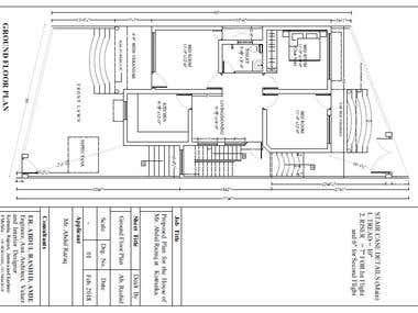 Proposed Plan for the house of Mr. Abdul Razaq at kotranka,