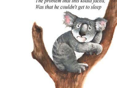 Koala watercolor illustration