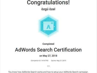Adwords Certifications